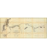 """1861 Map 16""""x36"""" From Fort Smith to the Rio Grande Wall Art Poster Print Vintage - $26.24"""