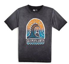 Quiksilver Boys' Shrine Wave T-Shirt, Tarmac, Size L - $12.86