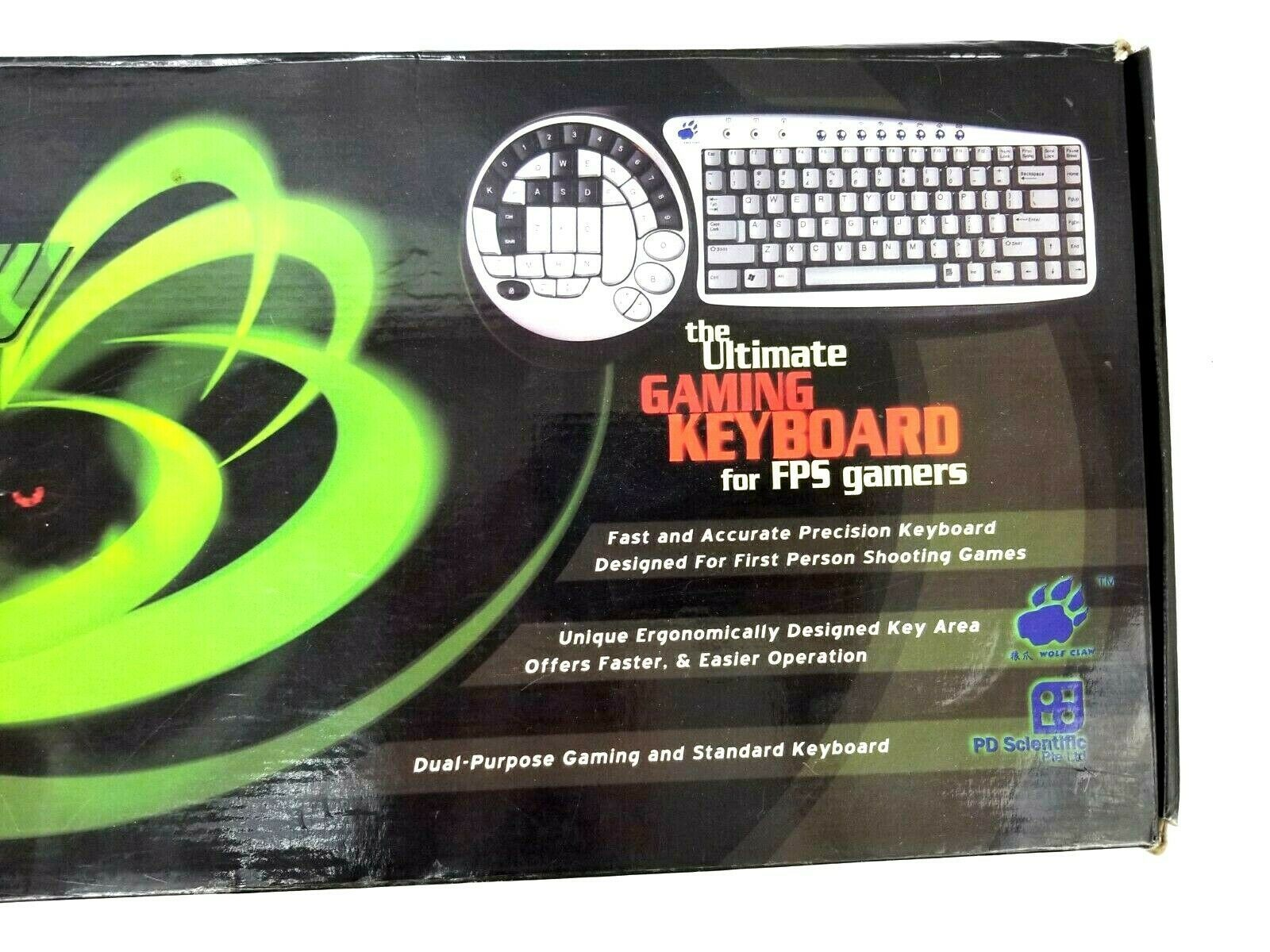 Wolf Claw II The Ultimate Gaming Keyboard for FPS Gamers SK-6745 - New Open Box image 5
