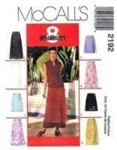 McCall's 2192 Misses' Wrap Skirt in Two Lengths. Size C (10-12-14) - $9.80