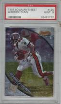 Warrick Dunn 1997 Bowman's Best Card 125 Graded 9 Mint PSA - $14.80