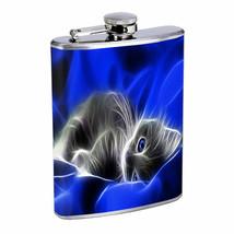 Kitten Em1 Flask 8oz Stainless Steel Hip Drinking Whiskey - $13.81
