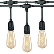 18Ft Outdoor Weatherproof String Lights with 12 Hanging Sockets & 7Watt ... - $22.40