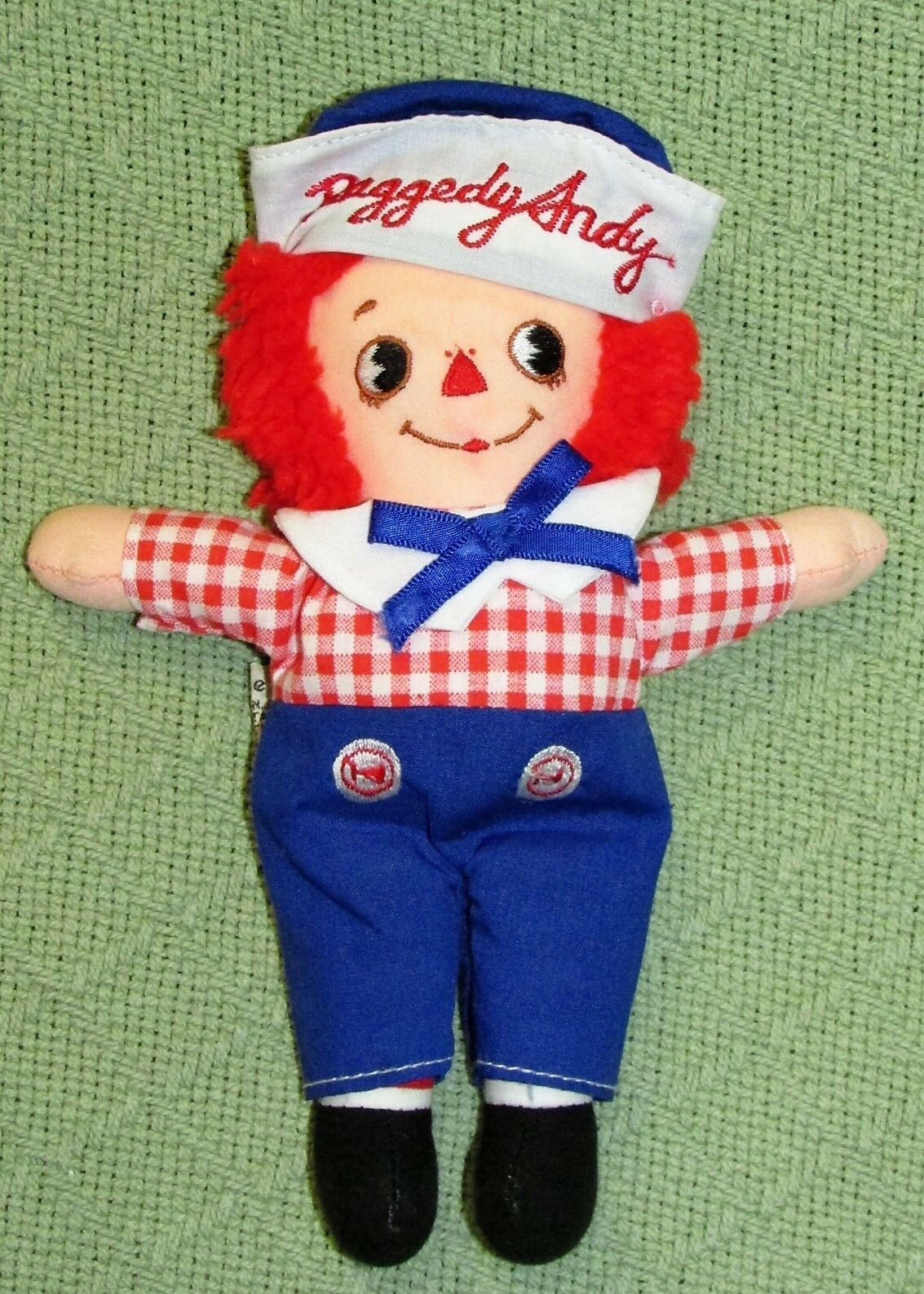 """8"""" KNICKERBOCKER RAGGEDY ANN ANDY Vintage Applause Dolls Embroidered Eyes TAIWAN"""