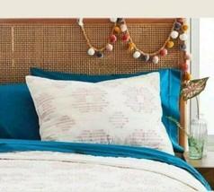 OpalHouse Target  Cream Pink / Blush Eyelash Pillow Sham ~ Standard Cott... - ₹1,418.36 INR