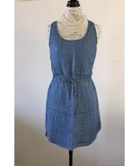 Aqua Womens Denim Sleeveless Tencel summer Dress S excellent condition - $18.00