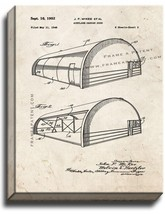 Airplane Hangar Door Patent Print Old Look on Canvas - $39.95+