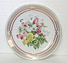 Chatillon Roses Porcelain Plate Vintage Japan - $9.95