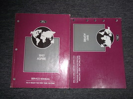1997 FORD ASPIRE Service Shop Repair Manual Set 97 OEM W Electrical Diagram - $11.88