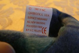 "Vintage Ty Beanie Babies Rainbow "" The Chameleon "" Hang Tag/Tush Tag 1997 Errors image 9"