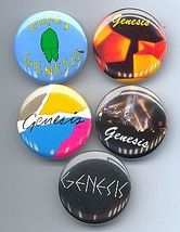 GENESIS 1982-83 Pinback Buttons 5 Different - $19.98