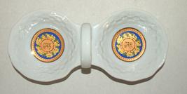 Porcelain Salt & Pepper Dish Gold Decoration Tableware Home Decor Shabbat Jewish image 1