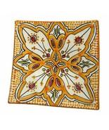 """GGE """"SHLADA ORANGE"""" SQUARE SALAD APPETIZER Moroccan BREAD Pottery Plate... - $20.79"""