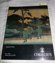 Japanese Prints Christie's  NY Auction Catalog June 15 1990 #8016 Illust... - $12.19