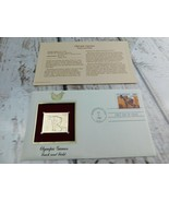 Olympic Games Track & Field 22kt Golden Replica Stamp 1990 First Day Stamp  - $19.79