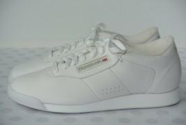 NEW Reebok Princess Womens Sz 8 W White Leather Comfort Sneakers Athleti... - $39.59