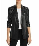 Womens Black Leather Blazer Genuine Lambskin Size XS S M L XL XXL Custom... - $183.59