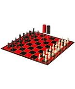 Pressman Checker/Chess/Backgammon with Folding Board - $14.00