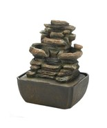 Tabletop Fountain Tiered Rock Formation w/ LED Light - $49.95