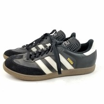 Mens ADIDAS Samba Black & White Leather Soccer Shoes Sneakers SIZE 7.5 E... - $29.15