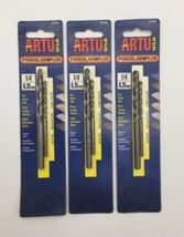 "New ARTU USA 01435 1/4"" Porcelain + for Hard Tile Carbide Drill Bit 2 pc PACK 3 - $47.02"