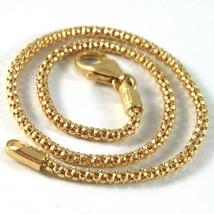 SOLID 18K YELLOW GOLD BRACELET LITTLE BASKET ROUND LINK 2 MM WIDTH MADE ... - $252.00
