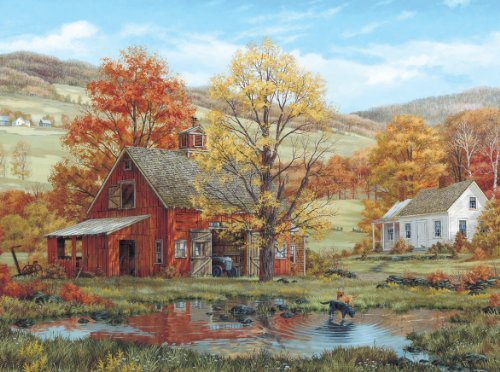 White Mountain Puzzles Friends in Autumn - 1000 Piece Jigsaw Puzzle - $27.77