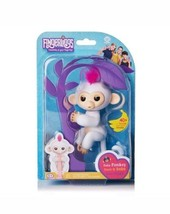 Authentic WowWee Fingerlings Sophie White w/ Pink Hair Interactive Baby ... - $29.99