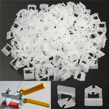 200Pcs 1mm White Ceramic Tile Tiling Accessibility Spacer Plastic Clip - $19.54