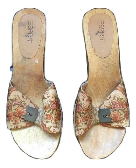ad0d04a0dcf Easy Spirit Women s Wooden Mules Clog Size 8.5 Floral Leather -  35.63