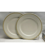"Pair (2) CULINARY ARTS China - VICTORIAN PEARLS - 11"" DINNER PLATES - $29.95"