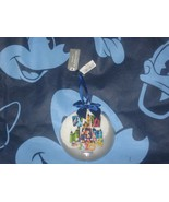 Disneyland Resort Mickey Mouse & Friends Glass Disk Holiday Ornament 202... - $14.85