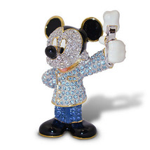 Disney Parks Mickey Dentist Jeweled Figurine by Arribas Brothers New wit... - $248.57