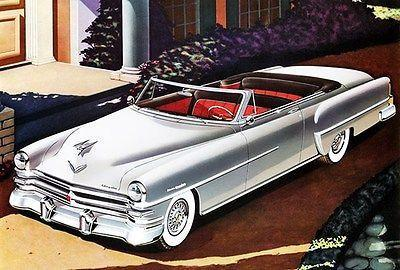 Primary image for 1953 Chrysler New Yorker Deluxe Convertible Coupe Promotional Advertising Poster