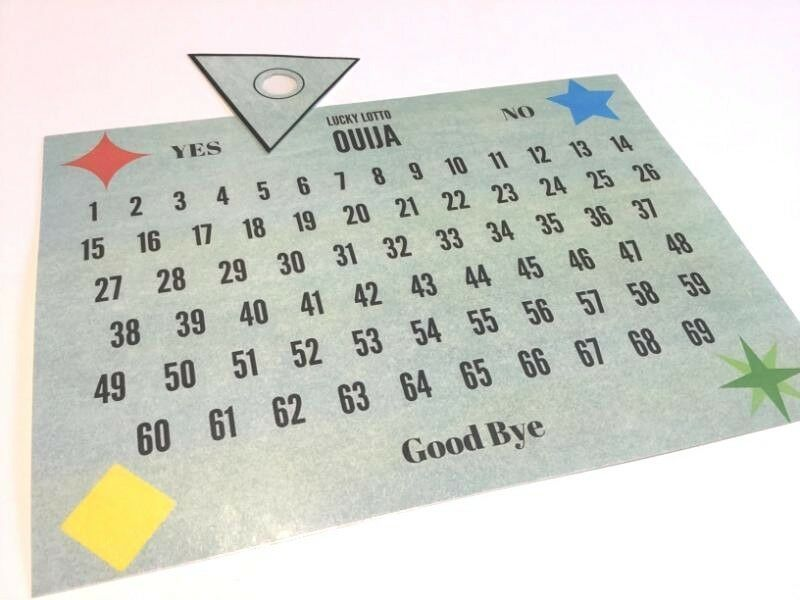 Laminated Paper Ouija Board Lucky Lotto Number Picker
