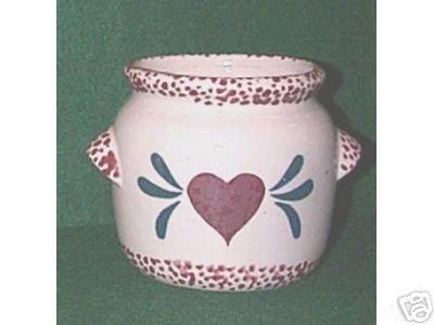 STRAWBERRY JAR TYPE PLANTER - RED/GREEN