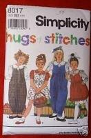 Simplicity 8017 GIRLS Blouse Jumper & Jumpsuit Size BB
