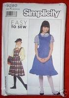 Simplicity 9280 GIRLS Jumper Size K (8+10+12)