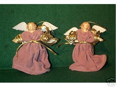 PAIR Robed ANGEL Ornaments