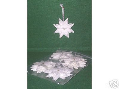 EIGHT-POINT Snowflake or Star ORNAMENT - Set of 12