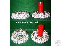 Silver Candle Ring / Wreath - Sweet Gum Pods (Balls)