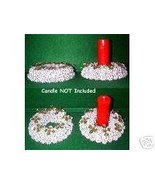 Silver Candle Ring / Wreath - Sweet Gum Pods (Balls) - $5.99