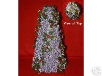 Silver TableTop Tree - Sweet Gum Pod Holly Sprigs