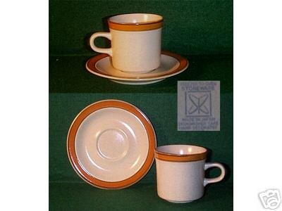 One STONEWARE Cup with Saucer - SAHARA 4122