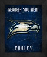 "Georgia Southern Eagles ""Retro College Logo Map"" 13x16 Framed Print  - $39.95"