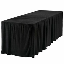8 Foot Folding Table Cloth Black 30x96x29 - $42.55