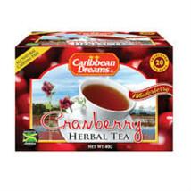 CARIBBEAN DREAMS CRANBERRY TEA 20 BAG - $10.99