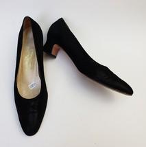 Salvatore Ferragamo Shoes Heels Black Pumps Low Heels Italy Womens Size ... - $84.11