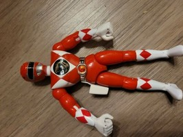 "Vintage Red Power Ranger Karate Kick Action Figure Bandai 1994 - 8"" V - $8.91"