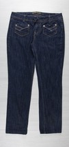 Sexy dark wash women's size 9 noble Designer brand wide leg Curvy jeans - $17.99